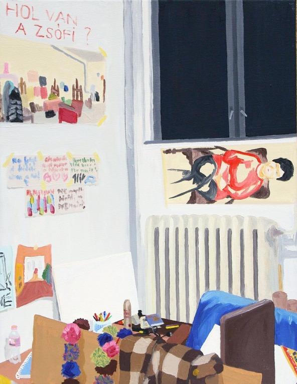Where is Zsófi - 45×35 cm - oil and canvas - 2011