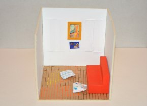 Dad, 15×15×15 cm, cardboard-paper-pencil-paint, 2015