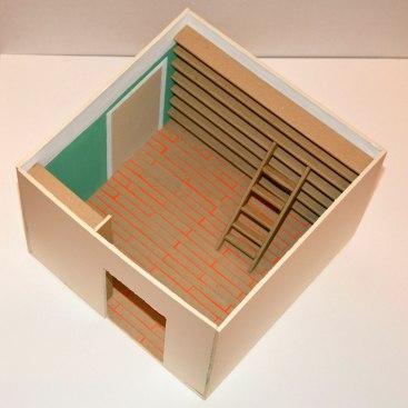 Study, 20×15×20 cm, cardboard-paper-paint, 2015