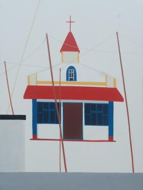 Church, 100×75 cm, acrylic, church